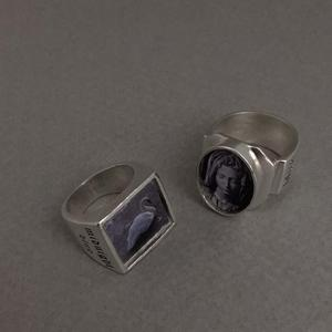 925silver oval bold ring 타원형 반지