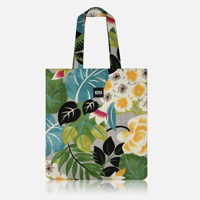 nother Botanical & Floral Linen Flat Tote / 나더 보태니컬 리넨 플랫 토트백