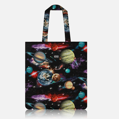 nother Space Solar System Flat Tote Bag / 나더 스페이스 플랫 토트백