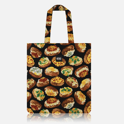 nother Loaded Baked Potato Flat Tote Bag / 나더 베이크 포테이토 플랫 토트백