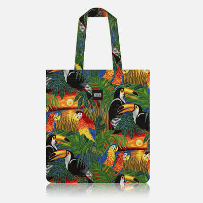 nother Tropical Birds Flat Tote Bag / 나더 트로피칼 버드 플랫 토트백