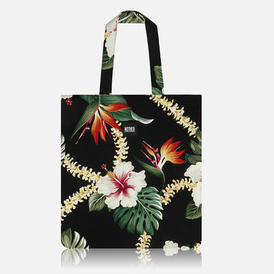 nother Layla Hawaiian Flat Tote Bag / 나더 레일라 하와이안 플랫 토트백 (Black)