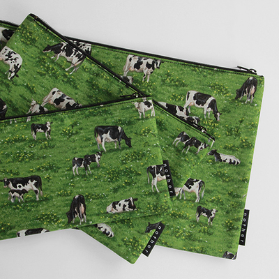 nother Milk Cows Pouch / 나더 밀크 카우 면 파우치