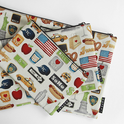 nother NYC Icons Pouch / 나더 뉴욕 시티 면 파우치 (Medium)