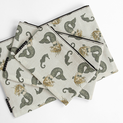 nother Retro Mermaid Pouch / 나더 레트로 머메이드 면 파우치