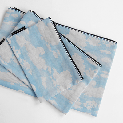 nother Blue Sky Pouch / 나더 블루 스카이 면 파우치