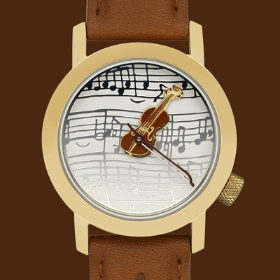 악테오 Violin Strad Gold (34mm)