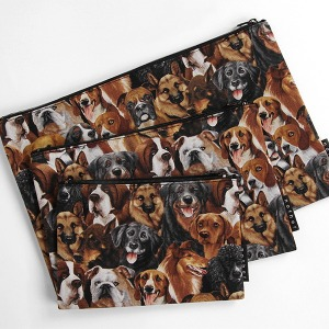 nother Dog Natural Pouch / 나더 강아지 패턴 파우치